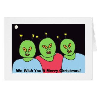 Saludos extranjeros del navidad tarjeta de felicitación