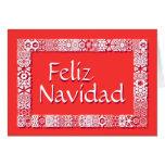 Saludos Feliz Tarjeta De Navidad. Saludo Dentro Card at Zazzle