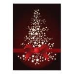 saludos festivos rojos elegantes del día de fiesta comunicados personales