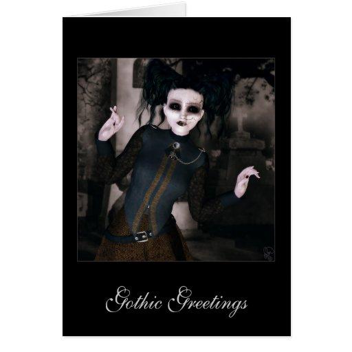 Saludos góticos tarjeta de felicitación