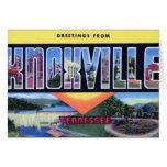 Saludos grandes de la letra de Knoxville Tennessee Tarjetón