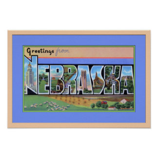 Saludos grandes de la letra de Nebraska Posters