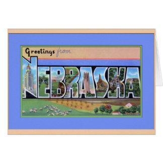 Saludos grandes de la letra de Nebraska Tarjetón