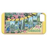 Saludos grandes de la letra de Portland Oregon iPhone 5 Case-Mate Carcasas