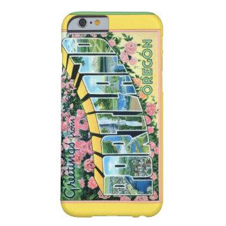 Saludos grandes de la letra de Portland Oregon Funda Para iPhone 6 Barely There