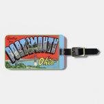 Saludos grandes de la letra de Portsmouth Ohio Etiquetas Maletas