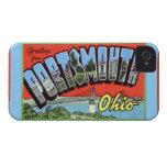 Saludos grandes de la letra de Portsmouth Ohio Case-Mate iPhone 4 Coberturas