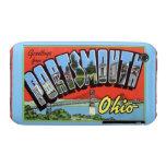 Saludos grandes de la letra de Portsmouth Ohio iPhone 3 Cobreturas