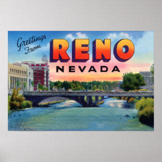 Saludos grandes de la letra de Reno Nevada Póster