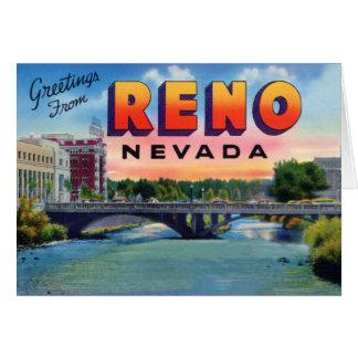 Saludos grandes de la letra de Reno Nevada Tarjeta De Felicitación