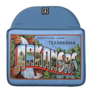 Saludos grandes de la letra de Texarkana Arkansas Funda Para Macbooks