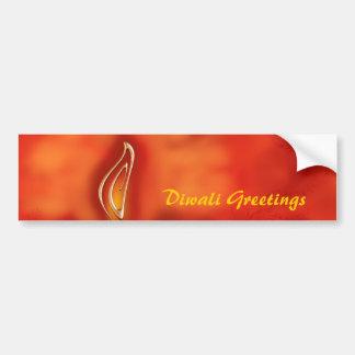 Saludos ligeros de Diwali Devali - tarjeta de feli Pegatina Para Auto