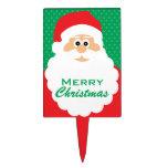 Saludos lindos del navidad de Santa del dibujo ani Palillos De Tarta