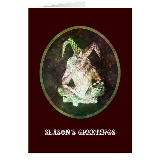 Saludos mágicos de las estaciones tarjeta de felicitación