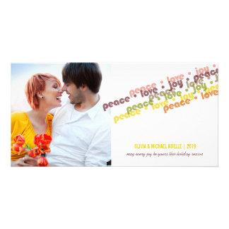 Saludos modernos de la foto de los saludos de la tarjeta personal
