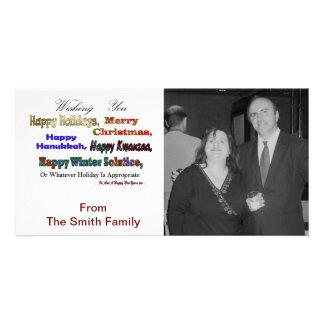Saludos multi del día de fiesta tarjetas con fotos personalizadas