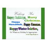 Saludos multi verdes del día de fiesta invitación 16,5 x 22,2 cm