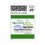 Saludos multi verdes del día de fiesta sellos