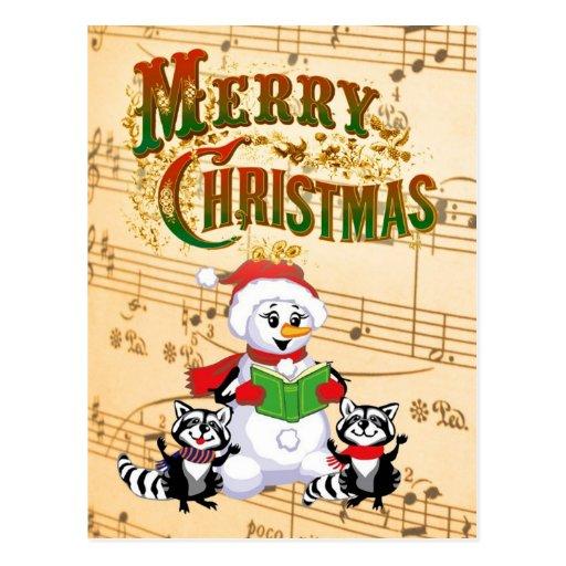 Saludos musicales del navidad postales