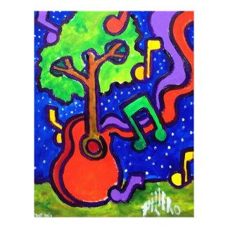 "Saludos musicales por piliero folleto 8.5"" x 11"""