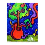 Saludos musicales por piliero postal