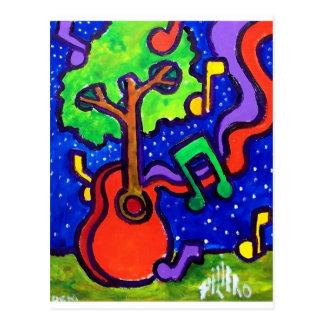 Saludos musicales por piliero postales