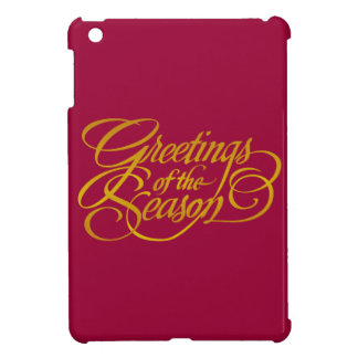 Saludos para la estación - en amarillo oro iPad mini cárcasas