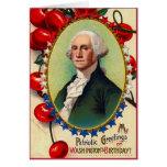Saludos patrióticos tarjeta de felicitación