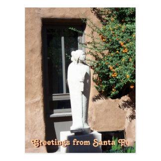 Saludos postal de Santa Fe, New México