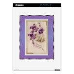 Saludos púrpuras del cumpleaños del Victorian del  Calcomanía Para iPad