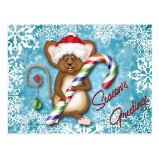 ¡Saludos ratoniles de las estaciones! Tarjetas Postales
