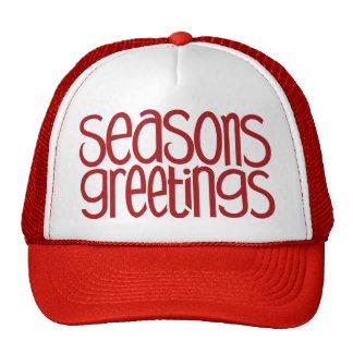 Saludos Red Hat de las estaciones Gorros Bordados