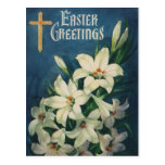 Saludos religiosos de Pascua del vintage con los Postal