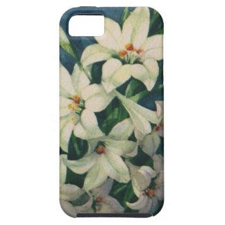 Saludos religiosos de Pascua del vintage, flores iPhone 5 Fundas