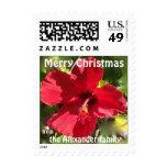 Saludos rojos personalizados del navidad de la sellos