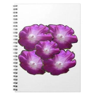 Saludos rosados blancos del regalo del ramo de la cuaderno