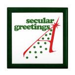 Saludos seculares cajas de joyas
