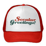 Saludos seculares gorras