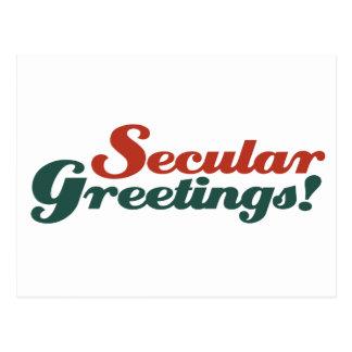 Saludos seculares postal