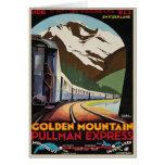 Saludos suizos de las montañas con la impresión de tarjeton