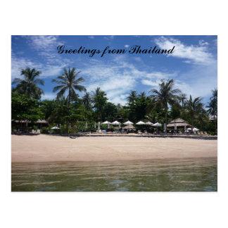 saludos tailandeses de la playa postal