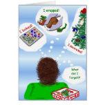 Saludos tardíos del día de fiesta tarjetas