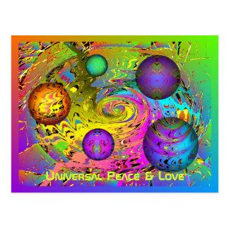 Saludos universales del día de fiesta de la paz y postal