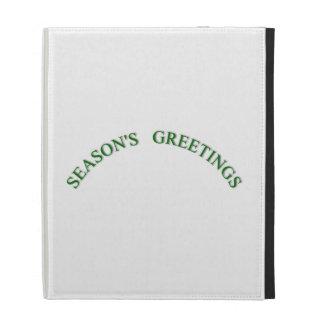 Saludos verdes de las estaciones del navidad