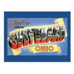 Saludos vintage de Cleveland, Ohio Postales