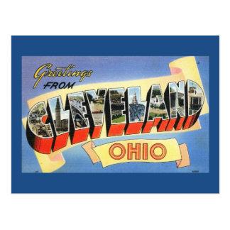 Saludos vintage de Cleveland, Ohio Postal