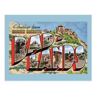 Saludos vintage de los Badlands, Dakota del Norte Tarjetas Postales