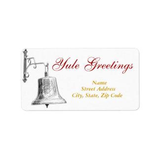 Saludos y Bell de plata - etiqueta de envío #1 de