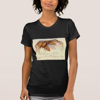 Saludos y maíz de la acción de gracias del vintage tee shirts