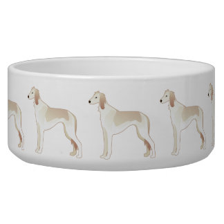 Saluki Basic Dog Breed Illustration Silhouette Bowl